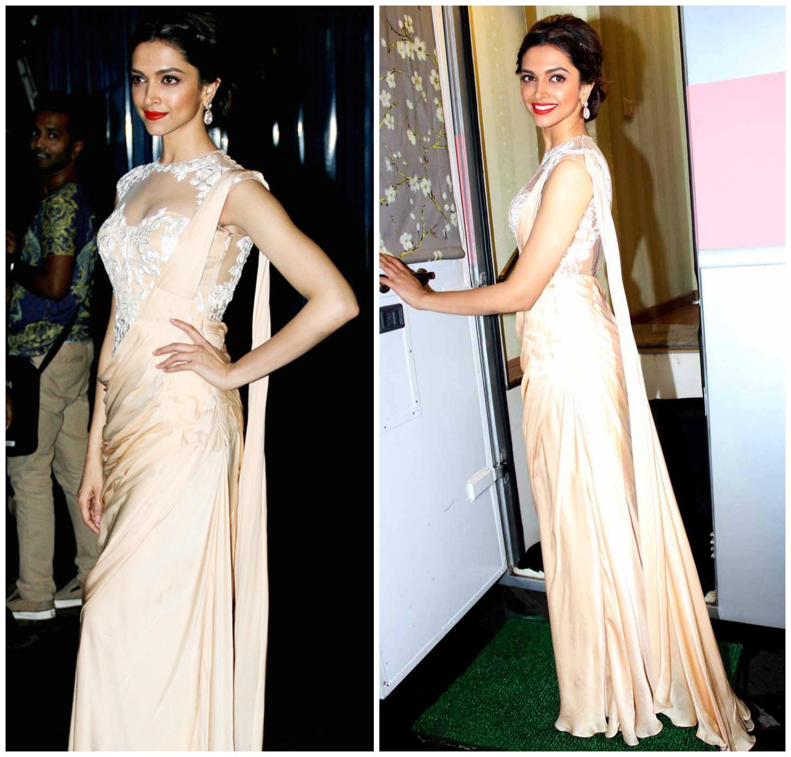 Fantastic Deepika Padukone Saree Gown Ideas - Wedding and flowers ...