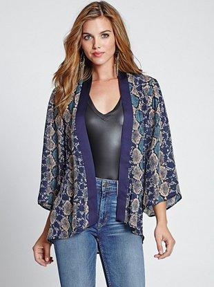 Pythone Print Kimono_GUESS
